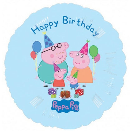 "Foil - 18"" - Happy Birthday Peppa Pig (23111)"