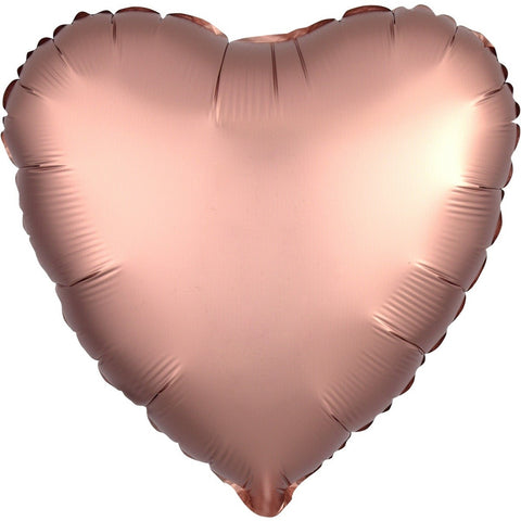 "Foil - 18"" - Satin Luxe - Heart - Rose Copper (3682501)"