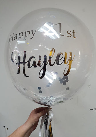 "Personalised 24"" Deco Bubble"