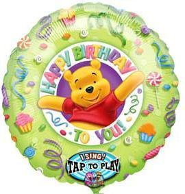"Singing Balloon - 28"" (71cm) - Winnie the Pooh Happy birthday to you! (12902)"