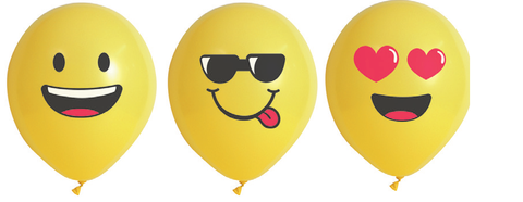 Balloons - Pkt 10 - Smiley Face (Emoji) (E4443)