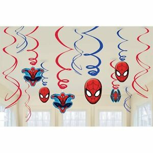 Swirl Decorations - Spiderman