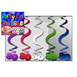 Hanging Swirl Decorations - 80th (nh80a)