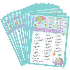 Baby Shower - What's in your purse game (380043)