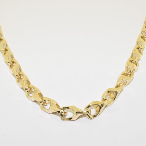 9ct Handmade Fasseted Yatesy Link Chain