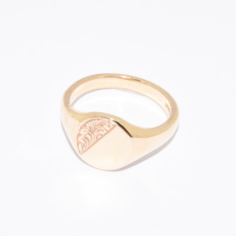 9ct Medium Oval Shape Signet Ring