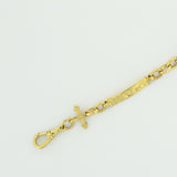 9ct Fancy Antique Bar Bracelet