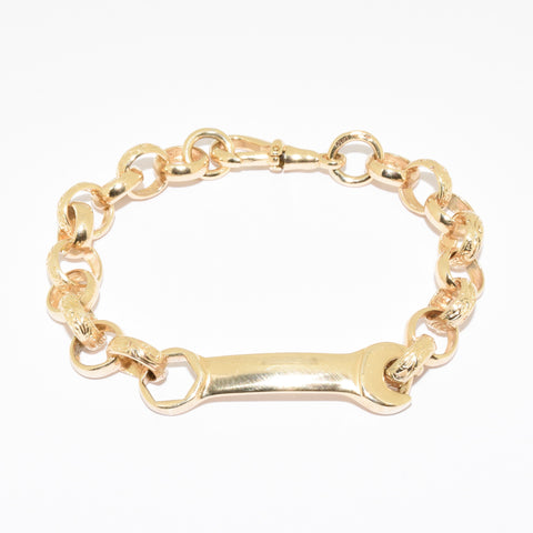 Children's 9ct Spanner Bracelet