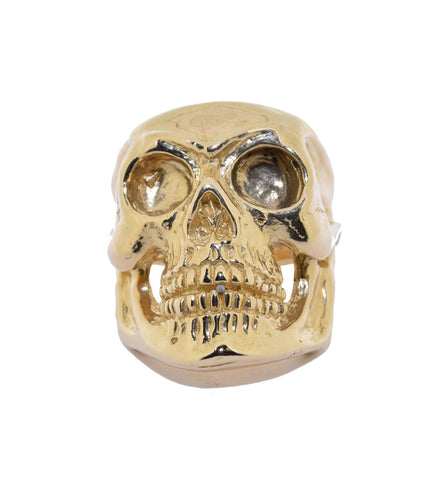 9ct Handmade Heavy Skull Ring