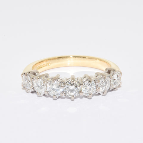 18ct 7 Stone Eternity Diamond Ring