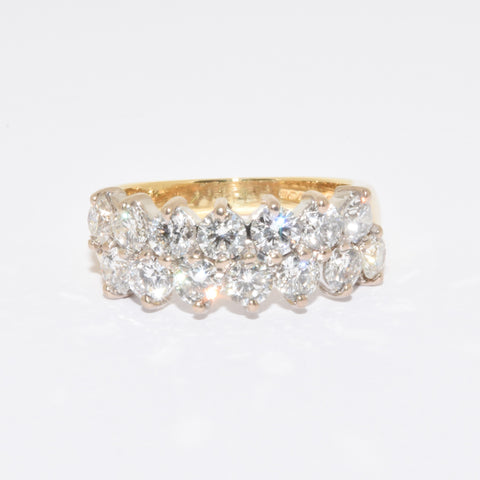 18ct Two Row Diamond Eternity Ring