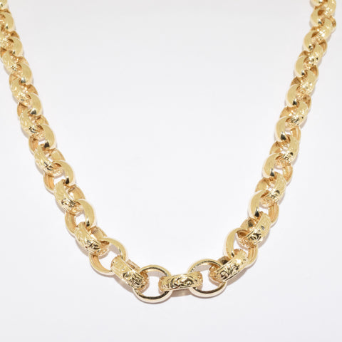 9ct Handmade Oval Belcher Chain