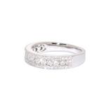 18ct White Gold 3 Row Diamond Ring