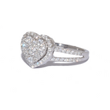 18ct Love Heart Diamond Ring