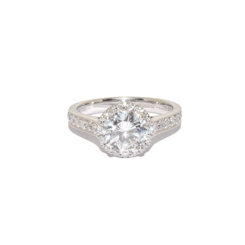 18ct White Gold Halo Ring