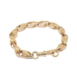 Gent's 9ct Gold Tulip Antique Style Bracelet