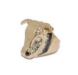 9ct Heavy Bulls Head Ring