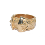 9ct Heavy Buckle Ring