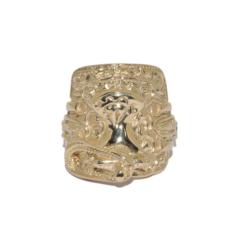 9ct Heavy Saddle Ring