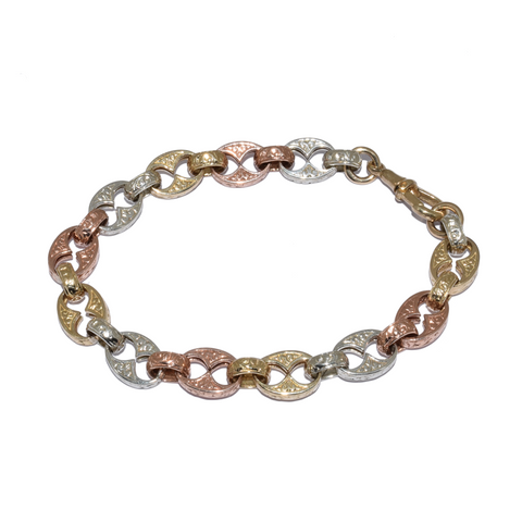 3 Colour Antique Style Bracelet