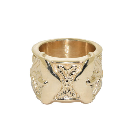 9ct Solid Double Buckle Ring