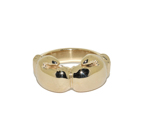 9ct Double Boxing Glove Ring