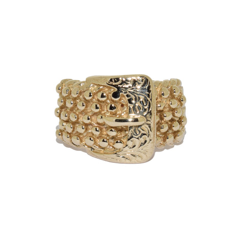 9ct Buckle Keeper Ring