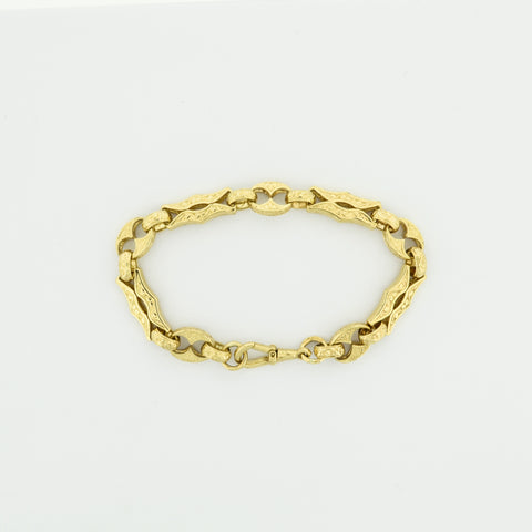 9ct Gold Handmade Antique Style Bracelet