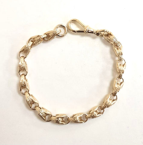 Children's 9ct Small Engraved Tulip Bracelet