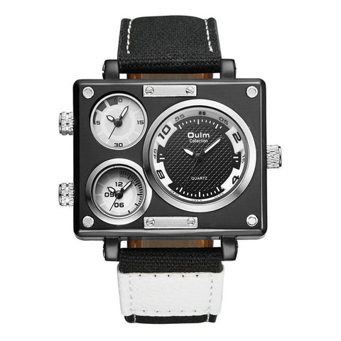 White Unique Square Military Timepiece