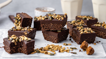 No Bake Maple Ganache Brownies (with The Protein Ball Co & Munchy Seeds)