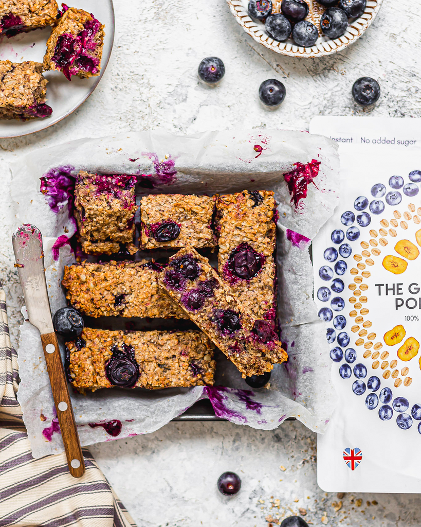 Blueberry and banana oat breakfast bars recipe