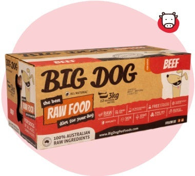 Big Dog BARF Raw Food Beef 3kg (12x250g)