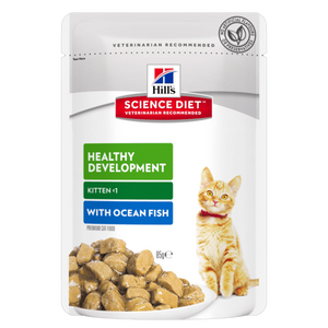 Hills Science Diet Kitten Healthy Development Ocean FishTender Chunks in Gravy (12x85g)