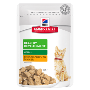 Hills Science Diet Kitten Healthy Development Chicken Tender Chunks in Gravy (12x85g)