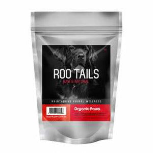 Organic Paws Frozen Roo Tails - 1kg