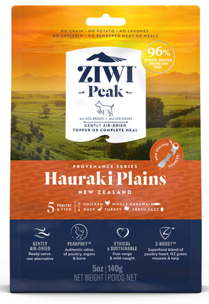 Ziwi Peak Air-Dried Hauraki Plains Recipe for Dogs 140g