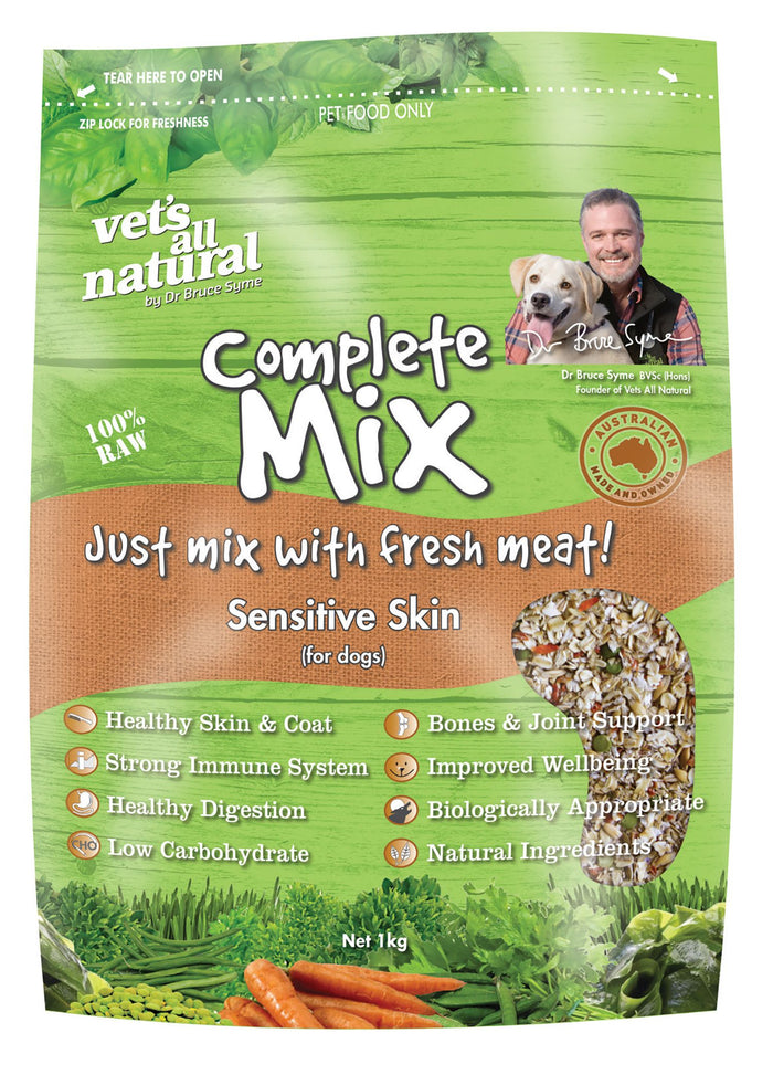Vets All Natural Complete Mix for Dogs with Sensitive Skin 1kg