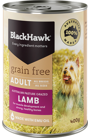 Black Hawk Grain Free Wet Dog Food - Lamb (12x400g)