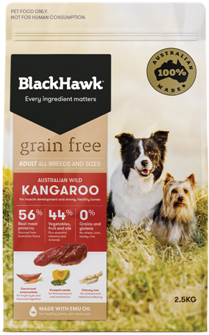 Black Hawk Grain Free Wild Kangaroo Dog Food 15kg
