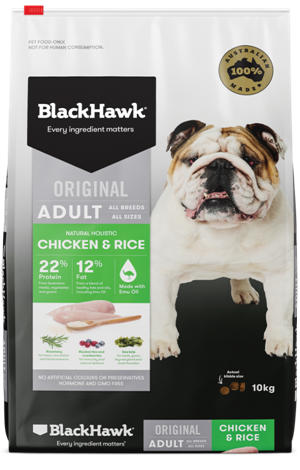 Black Hawk Adult Chicken & Rice Dog Food 20kg