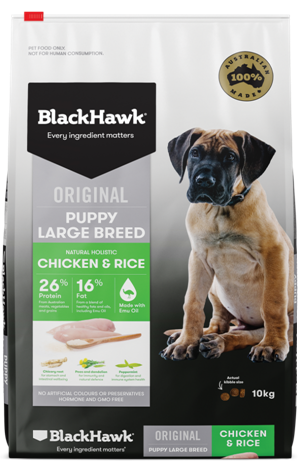 Black Hawk Puppy Large Breed Chicken & Rice Dog Food 20kg