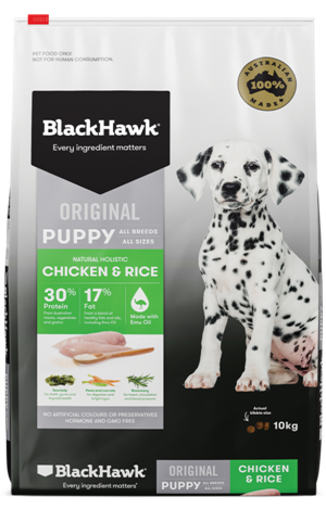 Black Hawk Puppy Chicken & Rice Dog Food 20kg