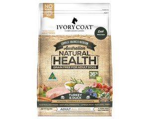 Ivory Coat Dog Adult Turkey & Duck 13kg