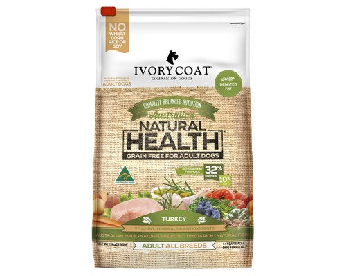 Ivory Coat Dog Reduced Fat Turkey 2kg