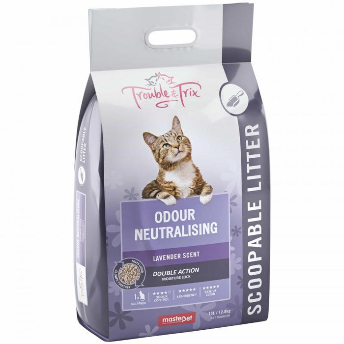 Trouble & Trix Lavender Scented Clumping Litter - 7 Litre