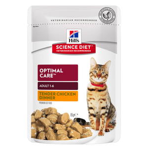 Hills Science Diet Adult Optimal Care Chicken Tender Chunks in Gravy 85g