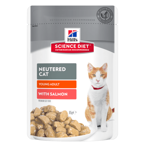 Hills Science Diet Neutered Cat Young Adult with Salmon (12x85g)