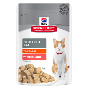 Hills Science Diet Neutered Cat Young Adult with Salmon 85g