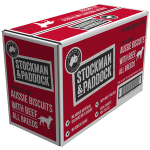 Stockman & Paddock Aussie Beef Dog Biscuits - 10kg